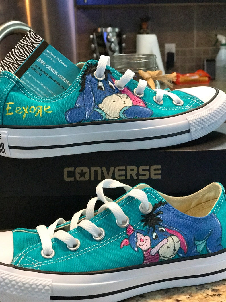 d7c2193cf3e7a Custom Painted Converse shoes inspired by Disney's Winnie The Pooh