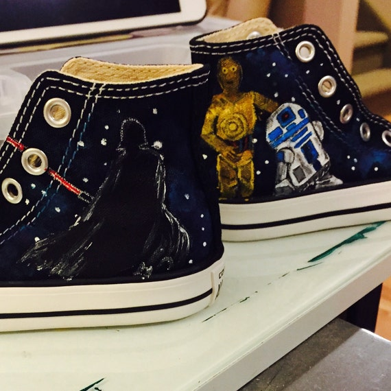 Star Wars hand painted Toddler Converse