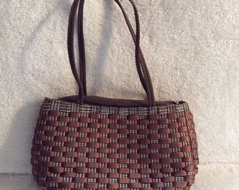 Italian Basket Weave Purse Shoulder Bag Purse Made In Italy eaadc67b78fc2