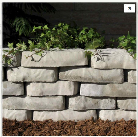 Make Your Own Garden Wall Blocks From Concrete Molds Forms