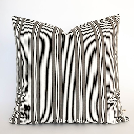 Excellent Ikea Luxury Striped Black White Grey Sofa Cushion Pillow Cover Cjindustries Chair Design For Home Cjindustriesco