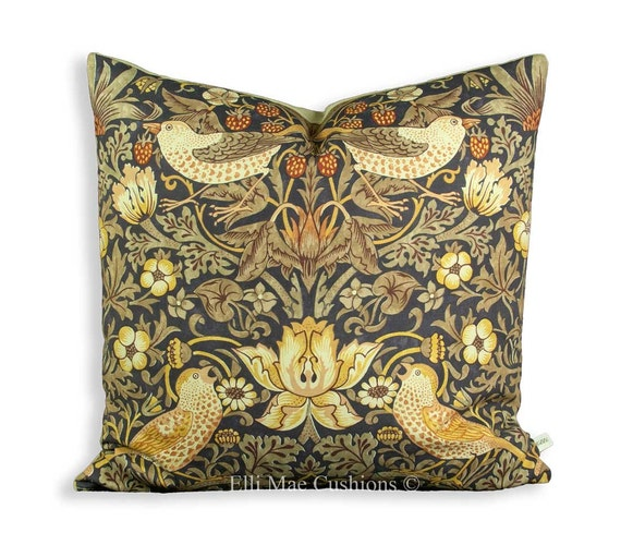 William Morris Luxe snakeshead tissu rouge vintage designer coussin pillowcover