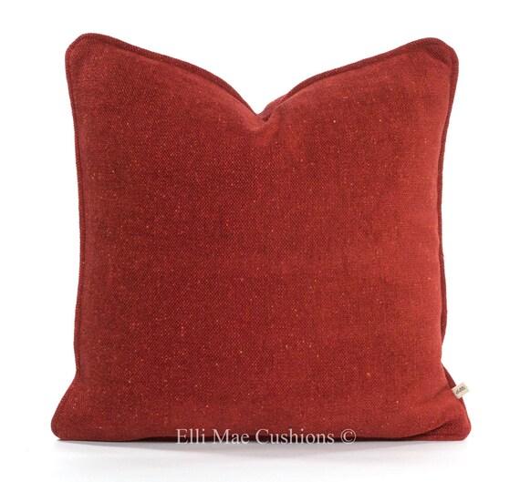 Luxury Designer Plain Terracotta Brick Chenille Sofa Cushion Pillow Cover