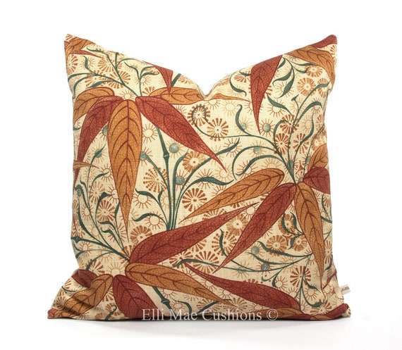 Linen Blend William Morris Fabric Cushion Cover /'Rosehip/' Rose