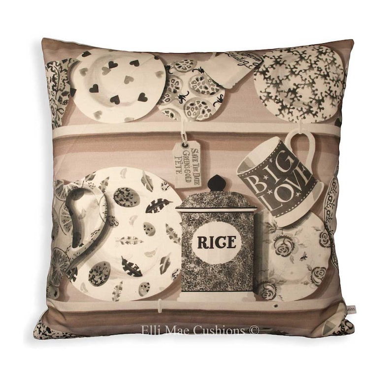 Sanderson Emma Bridgewater The Dresser Blushed Pink Fabric Cushion Pillow Cover