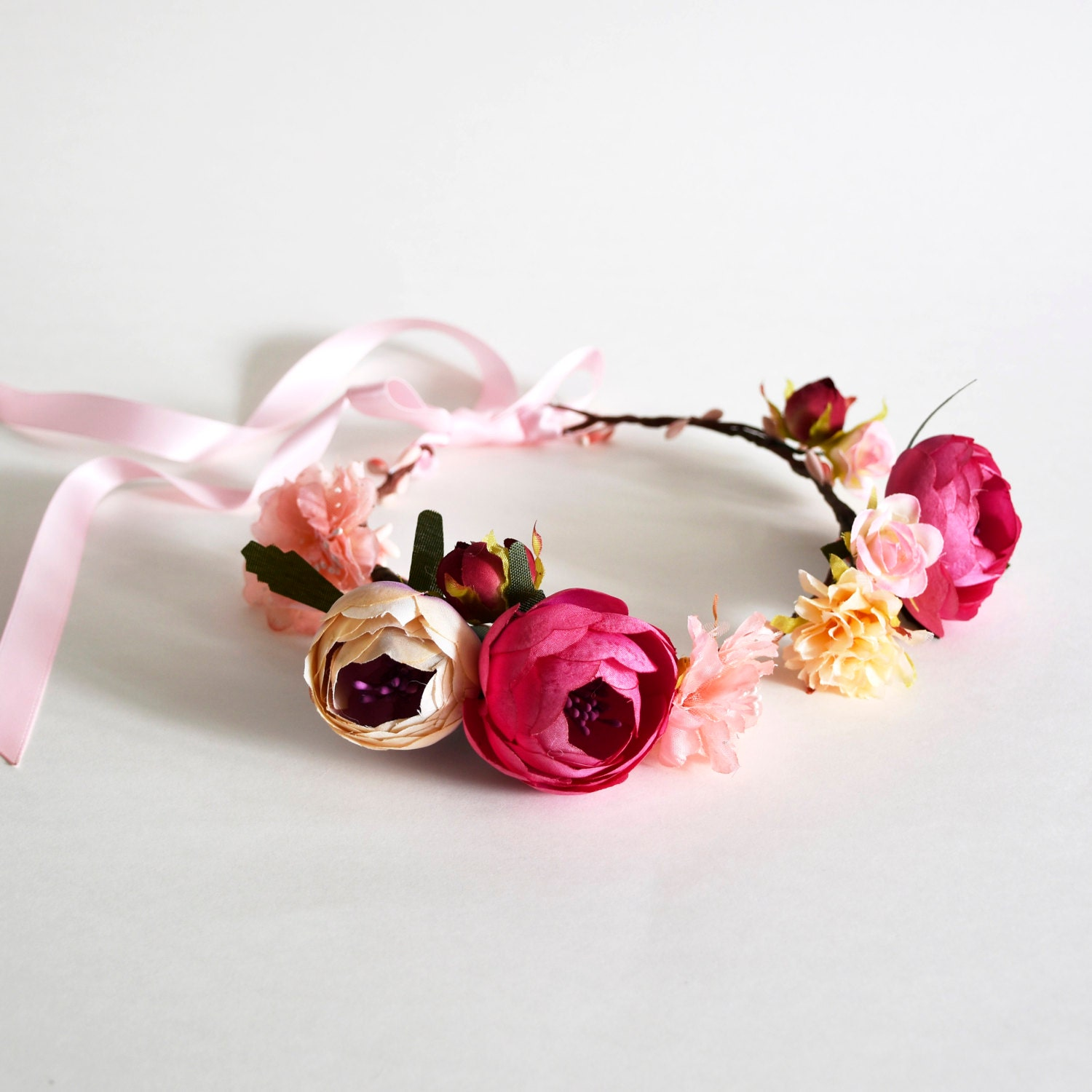 Handmade Flower Crown Floral Crown Wedding Flower Crown Etsy