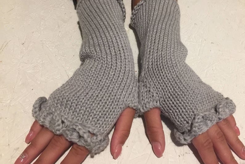 6a4fdcace 2017 new gray fingerless gloves dragon scale knit gloves arm | Etsy
