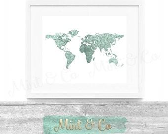 X World Map Etsy - 8x10 printable world map
