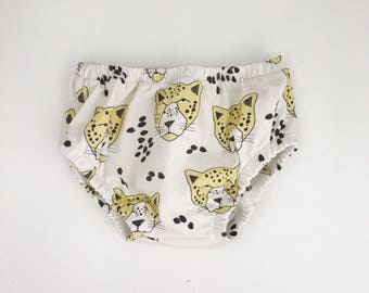 Baby Bloomers, Nappy Cover, Diaper Cover // Leopards //  IN STOCK