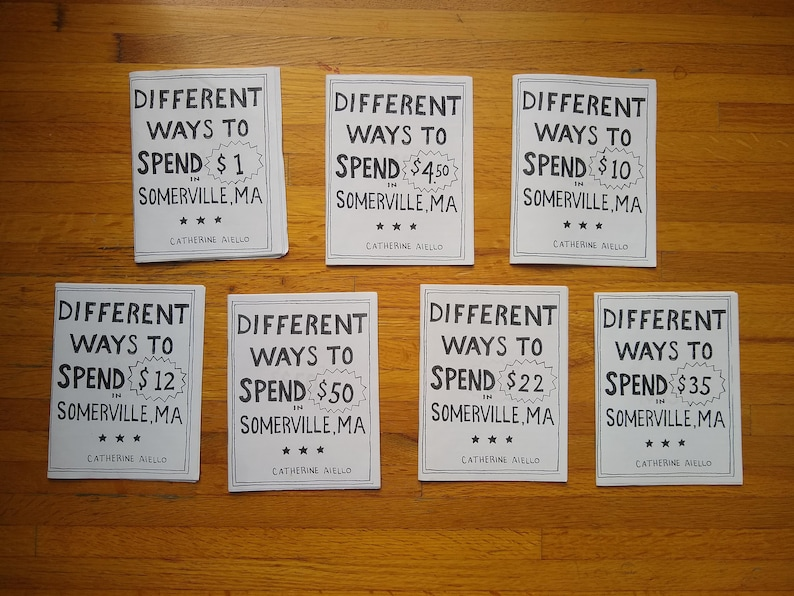 Different Ways to Spend the Same Amount of Money Zines image 0