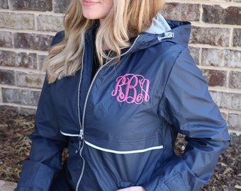 0fb50f924b7 Monogram Rain Jacket - Charles River Women s Rain Jacket- FREE CHEST  MONOGRAM 11 color options