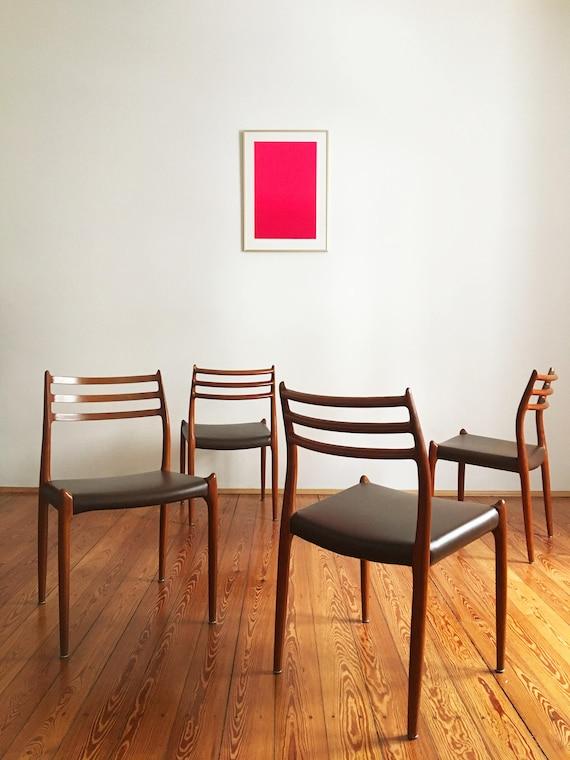 Vintage Model 78 Dining Chairs By Niels Otto N O Møller For J L Møllers Set Of 4