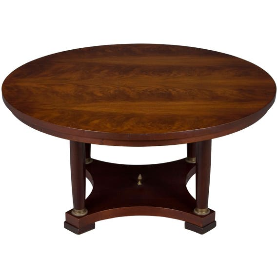 Pleasing Vintage Large Round Coffee Table In Mahogany Lamtechconsult Wood Chair Design Ideas Lamtechconsultcom