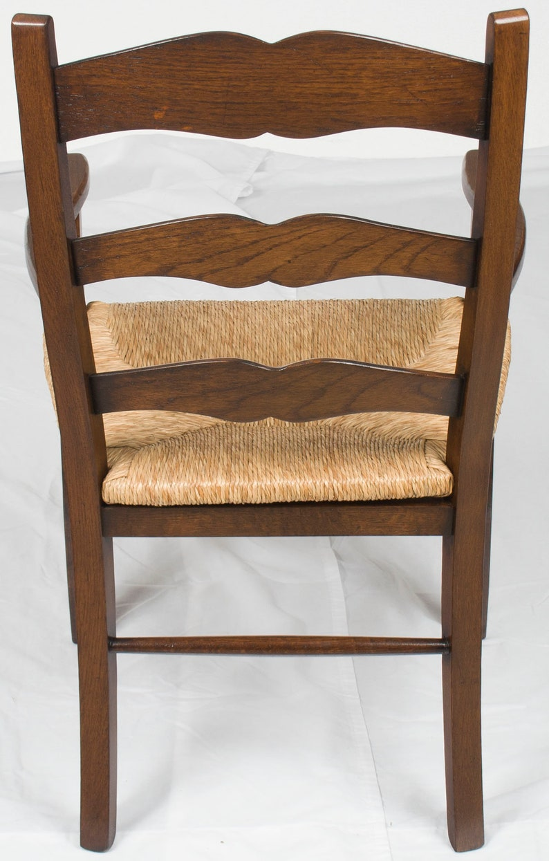 New Pair of Oak Ladder Back Dining Room Chairs