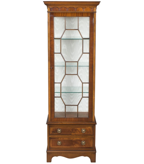 Attirant Vintage Narrow Tall Display Cabinet   Etsy