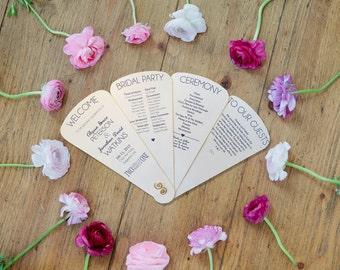 Sets of 10 Petal Panel Wedding Program Fan
