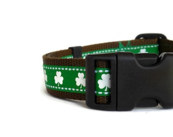 Shamrock/Clover Adjustable Dog Collar