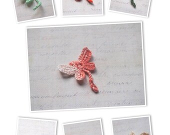 Handmade crochet dragonfly - many colors available!