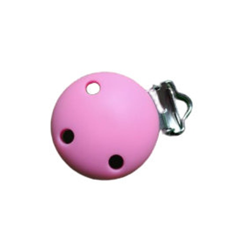 30mm Round clip for BPA-free silicone tetine PF