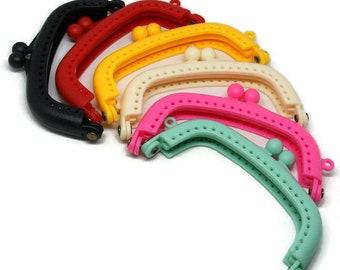 Plastic clasp purse 9cm