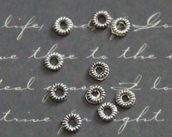 10 4.5 mm silver metal washers
