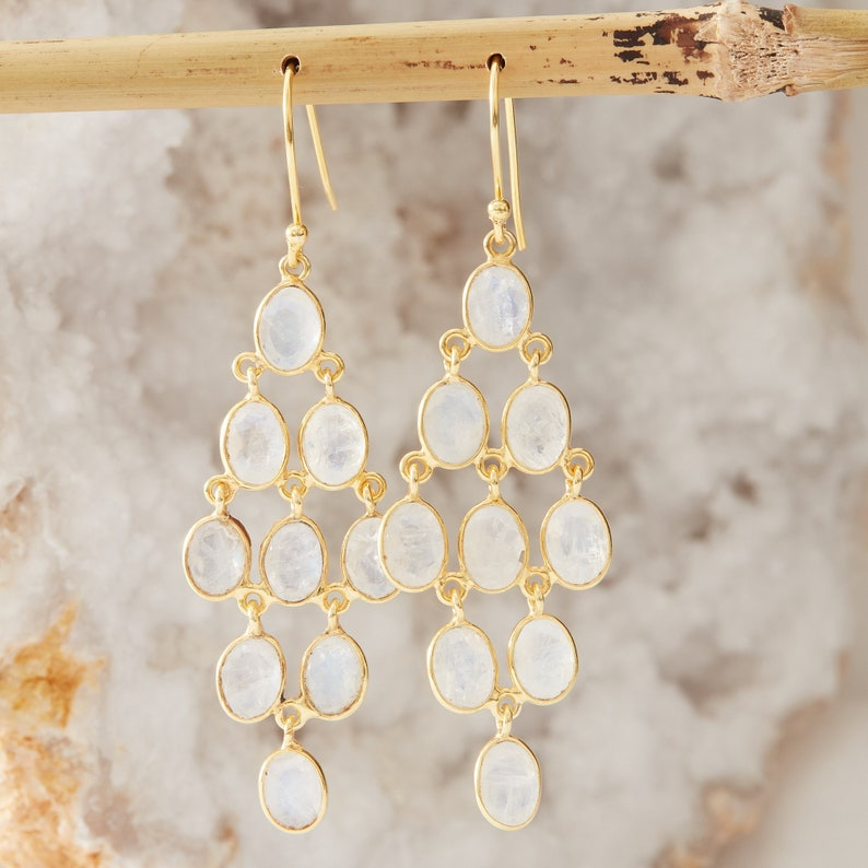 Amethyst statement earrings Gemstone gold chandelier earrings February birthstone Amethyst chandelier earrings Purple gemstone earrings