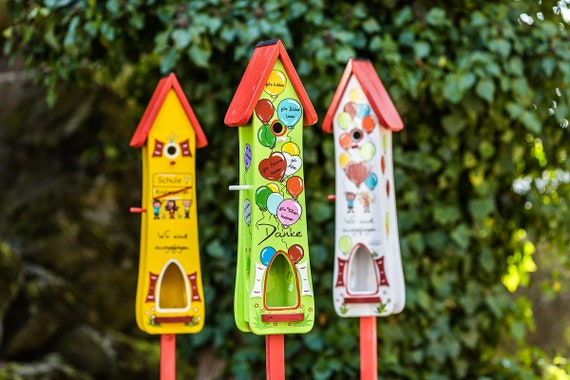 Kindergarten Abschiedsgeschenk Kindergartenabschiedsgeschenk Geschenk Erzieherin Kindergarten Tagesmutter Geschenkidee Vogelhaus