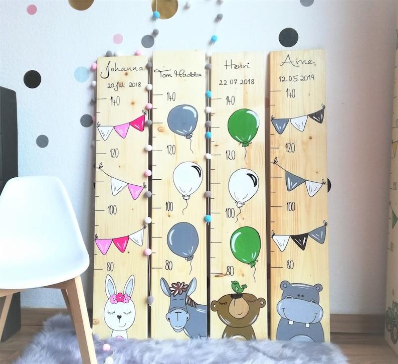 Messlatte Kinder Kinderzimmer Handbemalt individuell mit