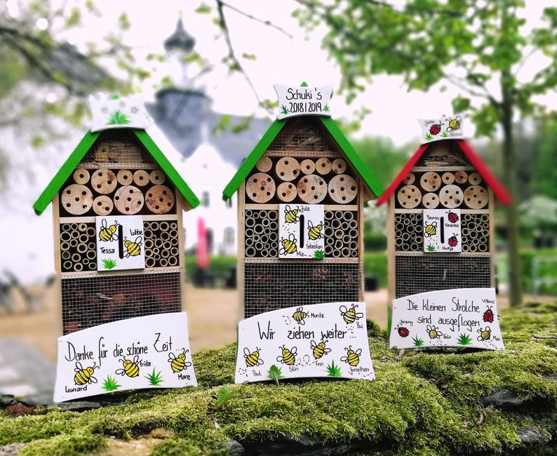 insect hotel insect house kindergarten farewell gift  etsy