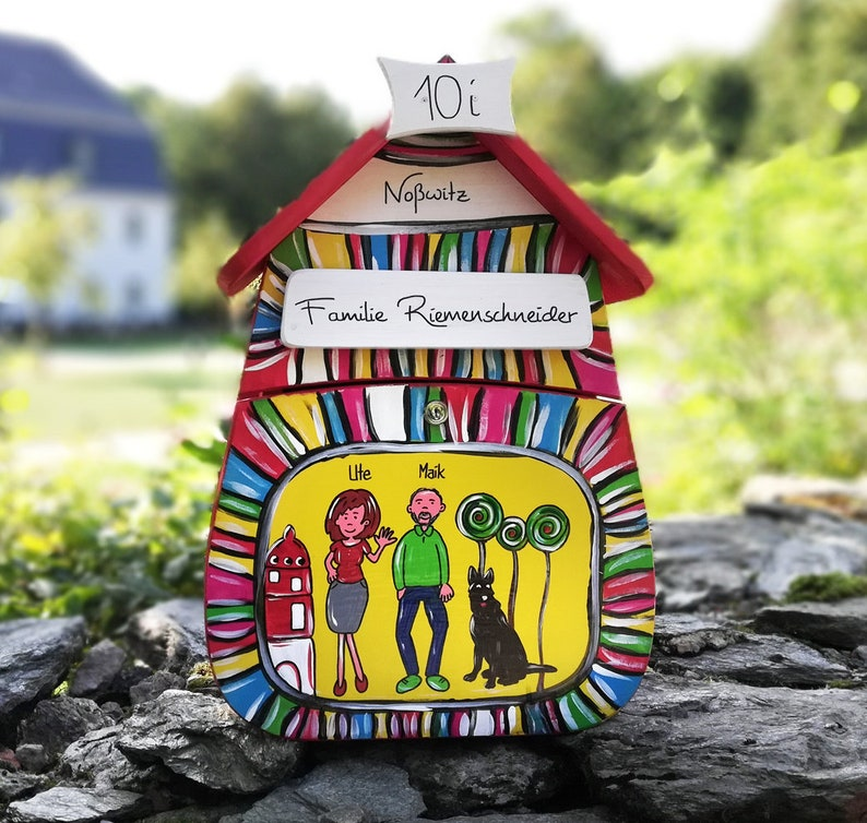 Letter Box Wood Hand Painted Door Sign Wedding Gift Collection Etsy