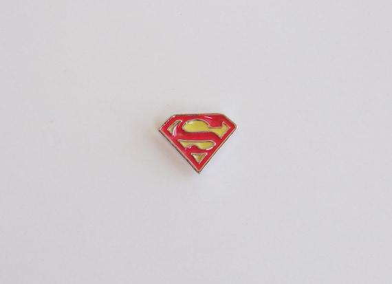 Floating Locket Charms Superman Logo Fits Origami Owl Etsy