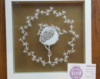 Dandelion Mouse by CalicoCuts -papercut template DIY digital download