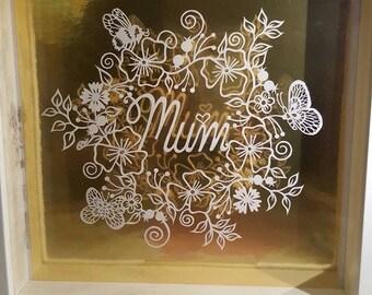Mum by CalicoCuts Papercutting Template DIY Digital Download