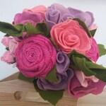 Felt Flower bouquet, felt flowers , wedding bouquet, mothers day gift , valentines, felt roses, handmade, wedding flowers, gift , bouquet