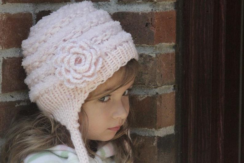 9126d3f874a Baby girls Hat. Newborn knit hat. Knitted newborn hat. Baby