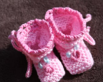 Baby knitted booties. Hand Knit Booties. Baby booties.Knitted baby booties. For Newborn.