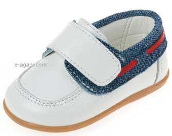 Moccassins Leather denim baby boy shoes toddler wedding shoes boy baptism shoes navy Unique handmade loafers size 3 4 5 6 US EU