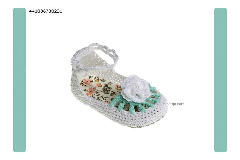 06204ded9c107 Knitted baby girl sandals Mint White Pink shoes Crib shoes Handmade shoes  Baby shoes baby baptism shoes size 2 3 4 US EU Kids shoes 18067302