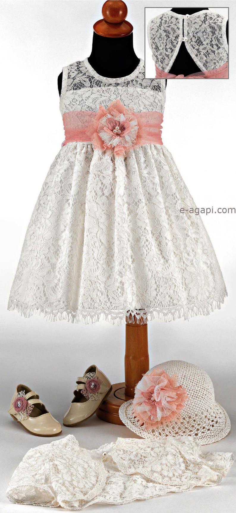 80b6467af662f Baby girl baptism dress Couture chic baby girl christening dresses Flower  girl white dress Greek baptism outfit Wedding lace summer dress