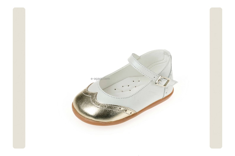 b655895f454db Leather baby girl shoes Silver White Wing toes shoes Kids shoes First steps  shoes Baby shoes baby baptism shoes size 3 4 5 6 US EU 18067031X