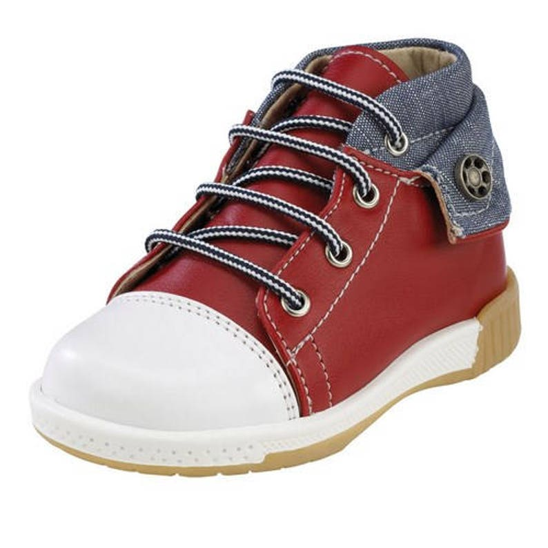5a4410bba39f Denim shoes baby boy shoes red leather baby sneakers shoes