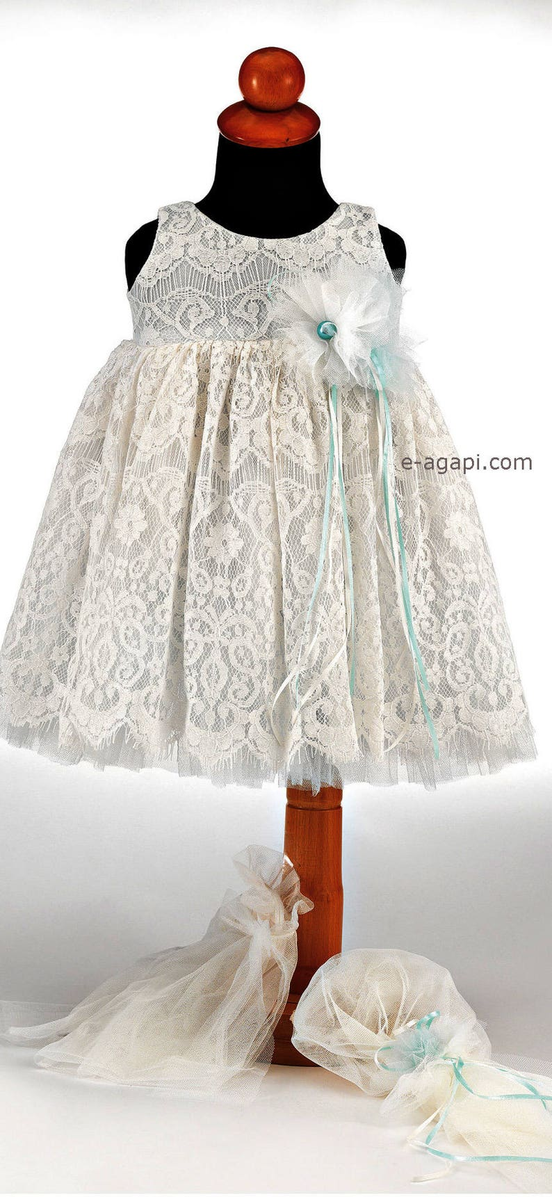 fdf8dc74ff549 Baby girl wedding dress White christening dress Lace wedding flowergirl  Greek set special ocasion Girl white greek outfit shoes Party dress