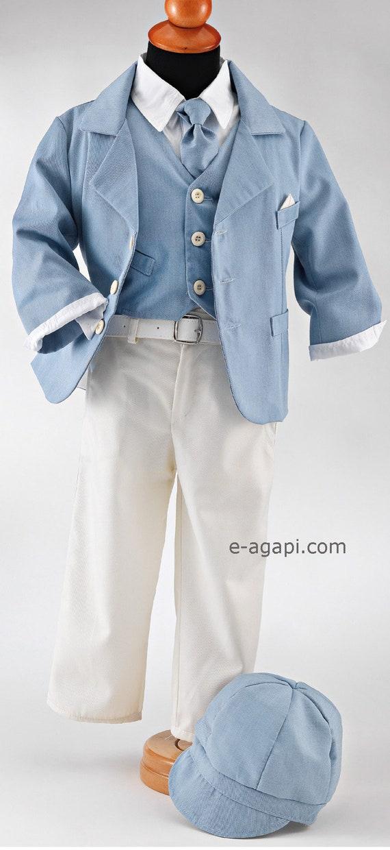 Couture Baby Junge Taufe Outfit Set Griechische Taufe Anzug Weiß Blau Taufe Anzug Optional Verschiedene Schuhe Party Kinder Kleidung Hochzeit Bebe