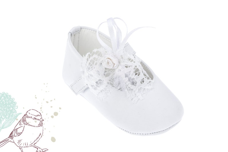 4583b6321c336 Crib shoes Leather baby shoes Baby girl shoes Handmade shoes Baby wedding  shoes Baby baptism shoes White shoes size 1 2 3 4 US EU 17066000A