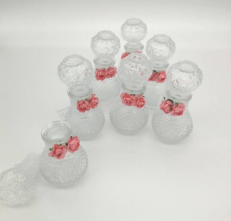 Mini bottles favors unique guests gifts Baptism favors Christening souvenirs Greek bombonieres for guests Giveaway ideas Floral elegant