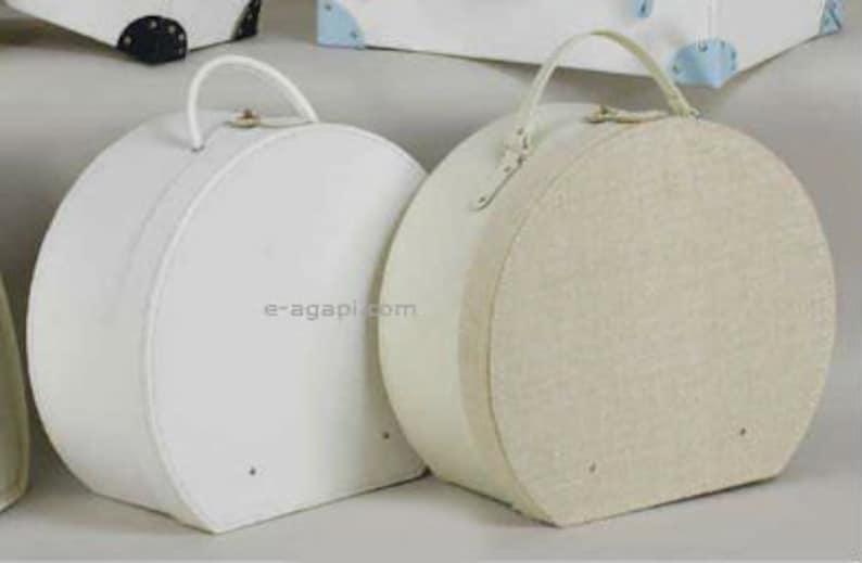 Baby greek baptism vintage baptism bag hat bag White / Ecru image 0