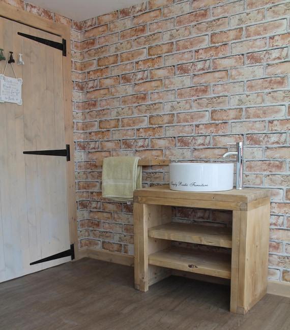 Pine Bathroom Vanity Unit: The Mossy Pine Wash Stand Hand Crafted Rustic Bathroom Vanity
