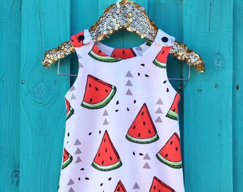 Baby Romper - Baby Boy Clothes - Watermelon  Jumpsuit - Baby Girl Clothes - Girls Romper - Toddler Romper - Handmade - Baby Shower Gift