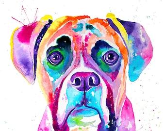 Custom Watercolor Pet Portrait, Custom Watercolor Dog Portrait, Custom Watercolor Cat Portrait
