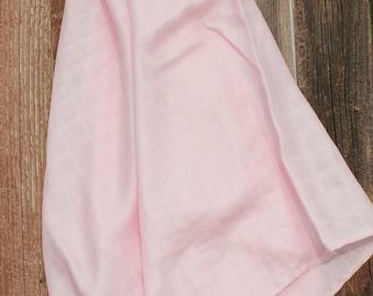 47x47 Baby Pink 100% Bamboo Double Gauze Swaddling Blanket Bamboo Swaddle, Swaddle Blanket, Bamboo Swaddle, Pink Swaddle